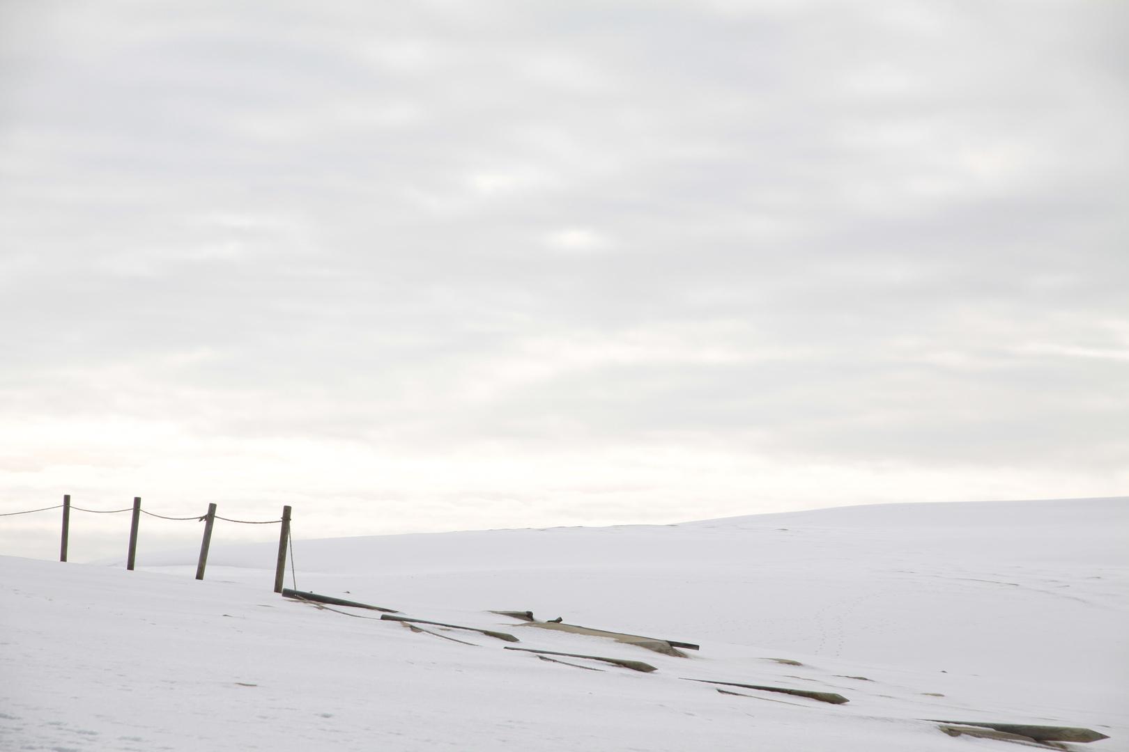 Wüste in weiß ...