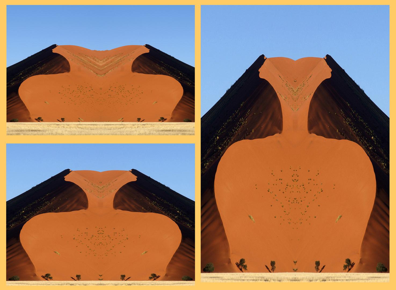 Wüstendünen in der Namib,