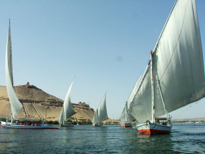 Wüste,Nil und Feluken