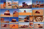 Wüstenkäfer- Collage - Mit einem VW-Käfer durch die Libysche Sahara/ Erg Ubari