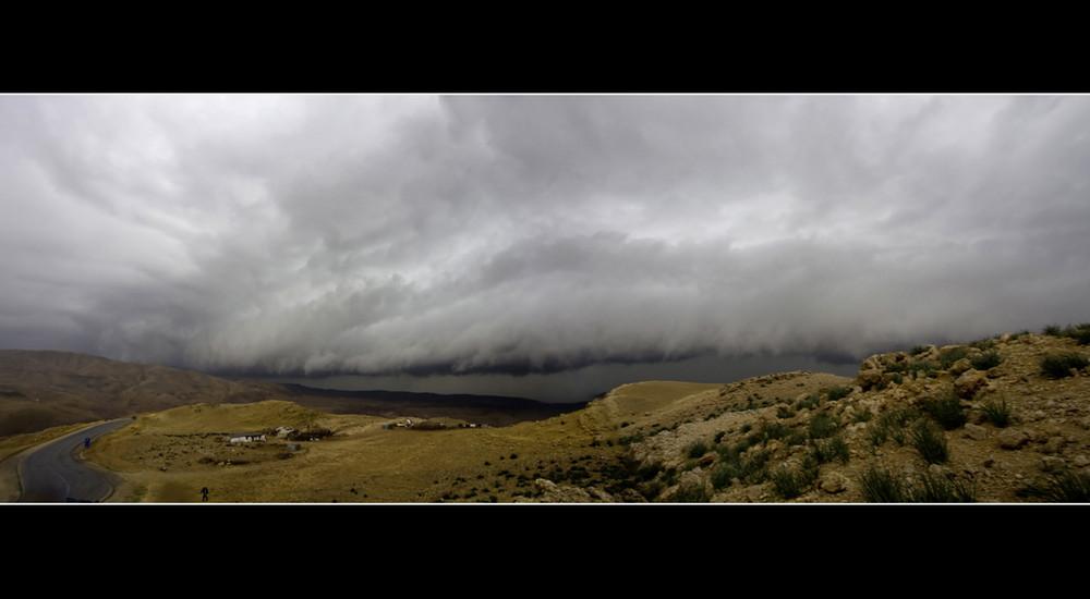 Wüstensturm-Panorama