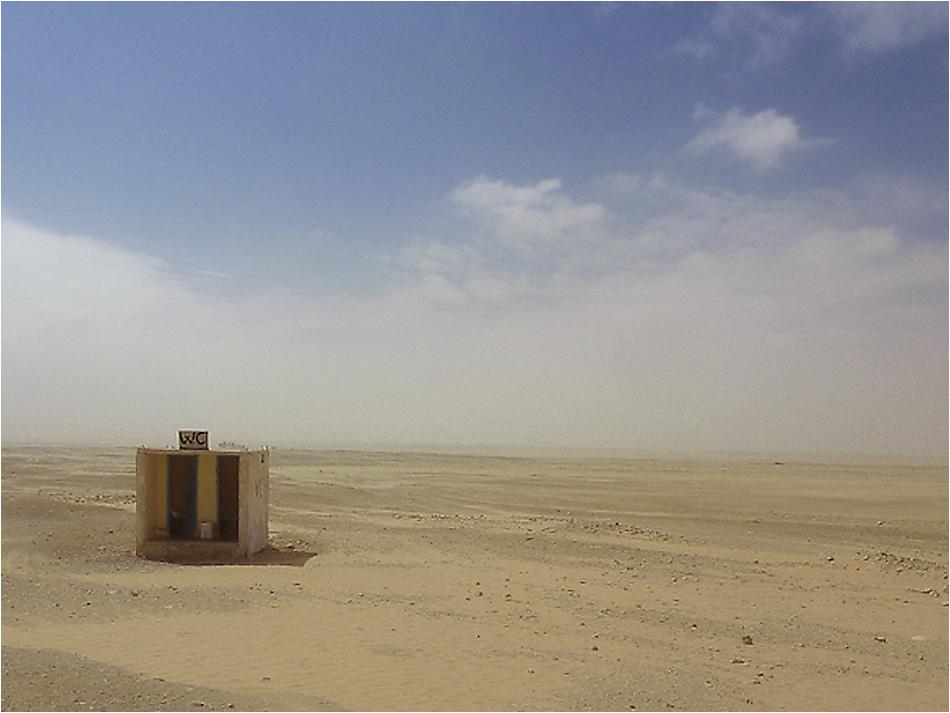 Wüstes Wüsten-WC