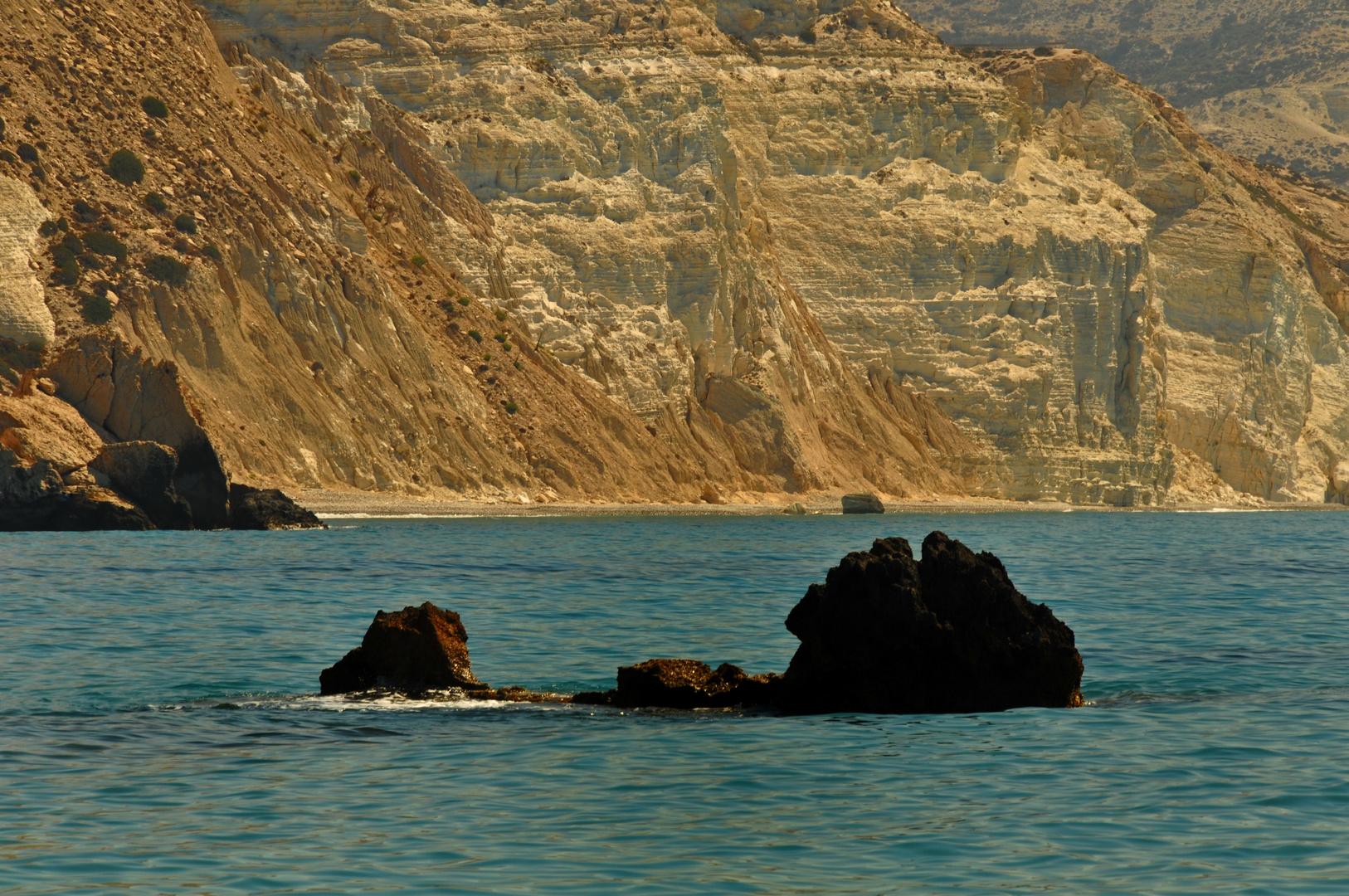 Wunderbare Felslandschaften am Meer