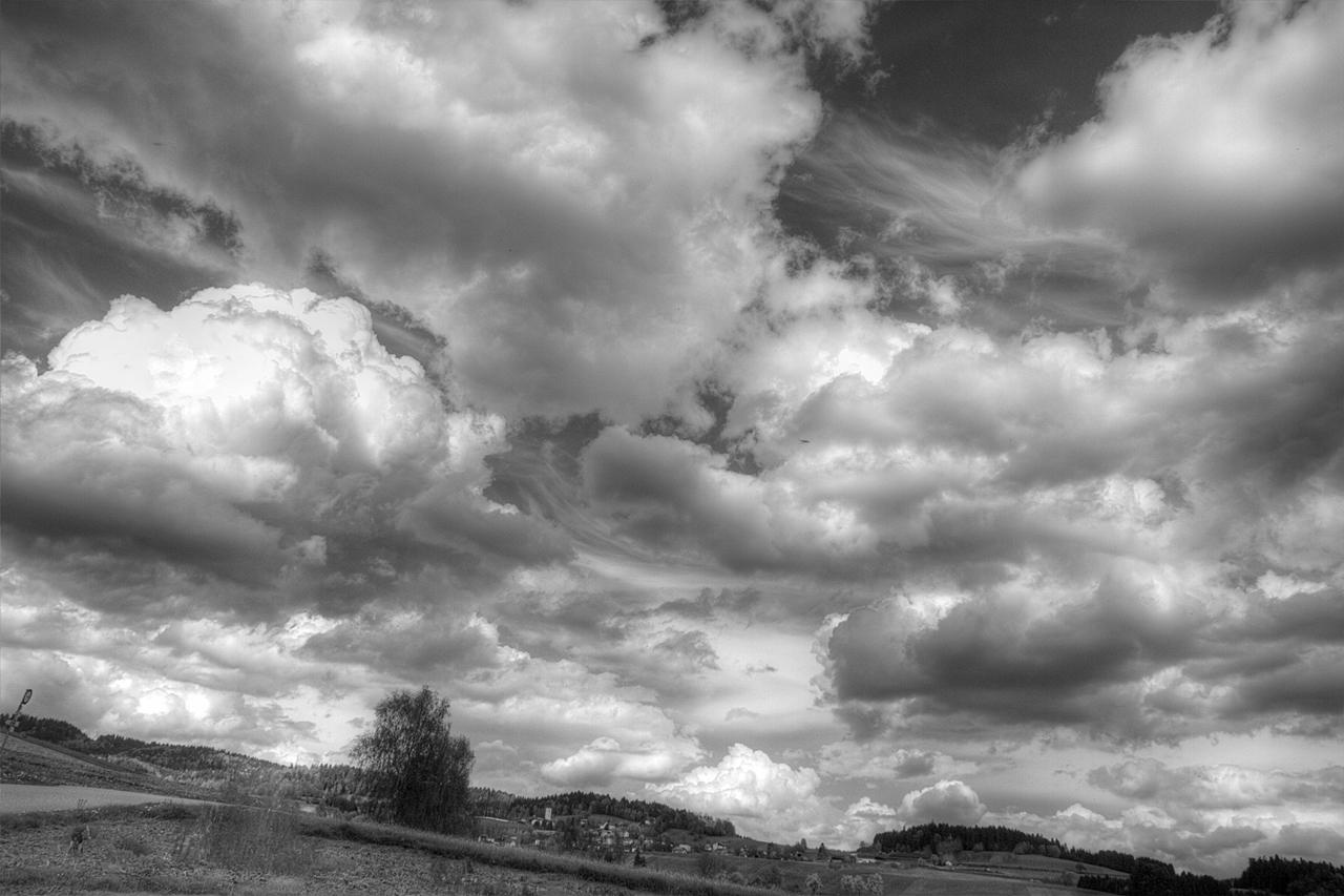 Wunderbare Wolkenstimmung