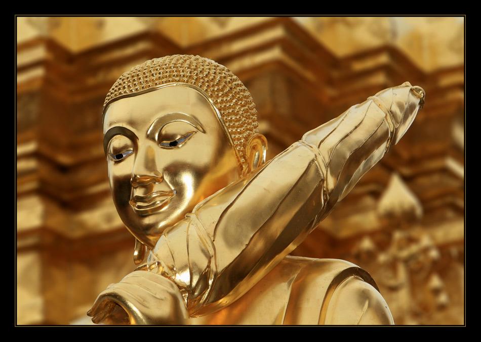 Wunderschöner Buddha in Chiang Mai