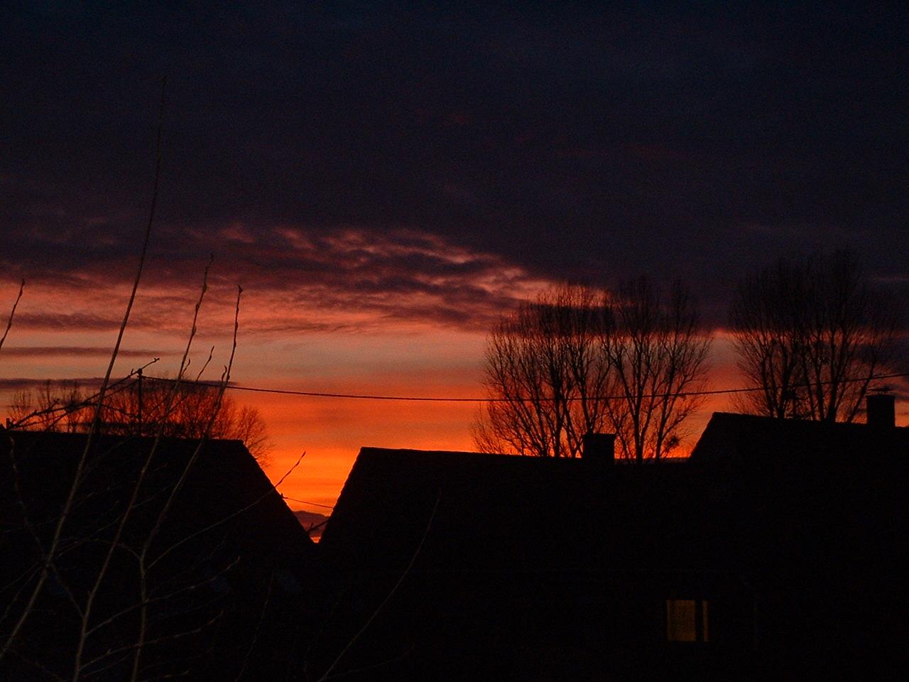 Wunderschöner Sonnenuntergang Karlsruhe Januar 2011