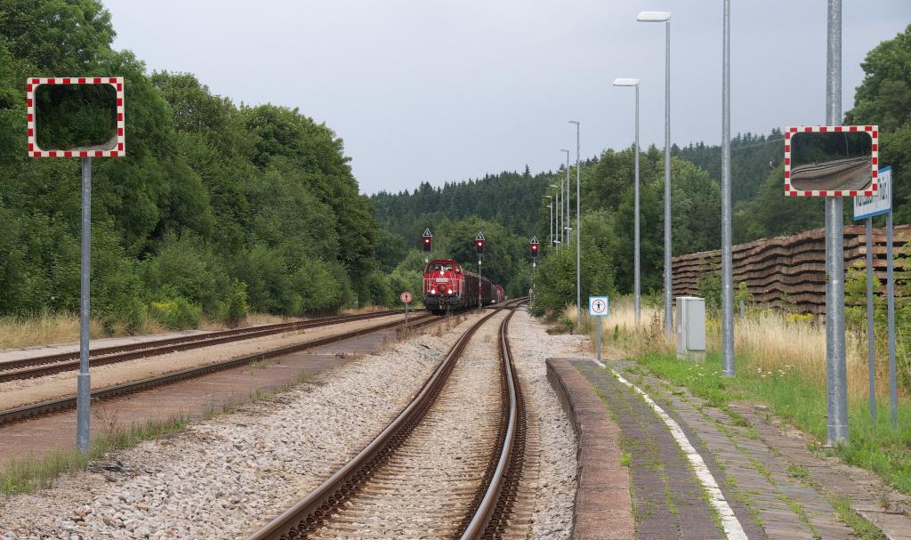 Wurzbach, ein Spitzkehrenbahnhof im Thüringer Schiefergebirge