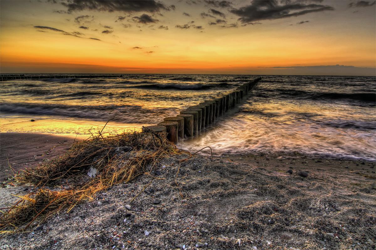 Wustrower Strand nach Sonnenuntergang