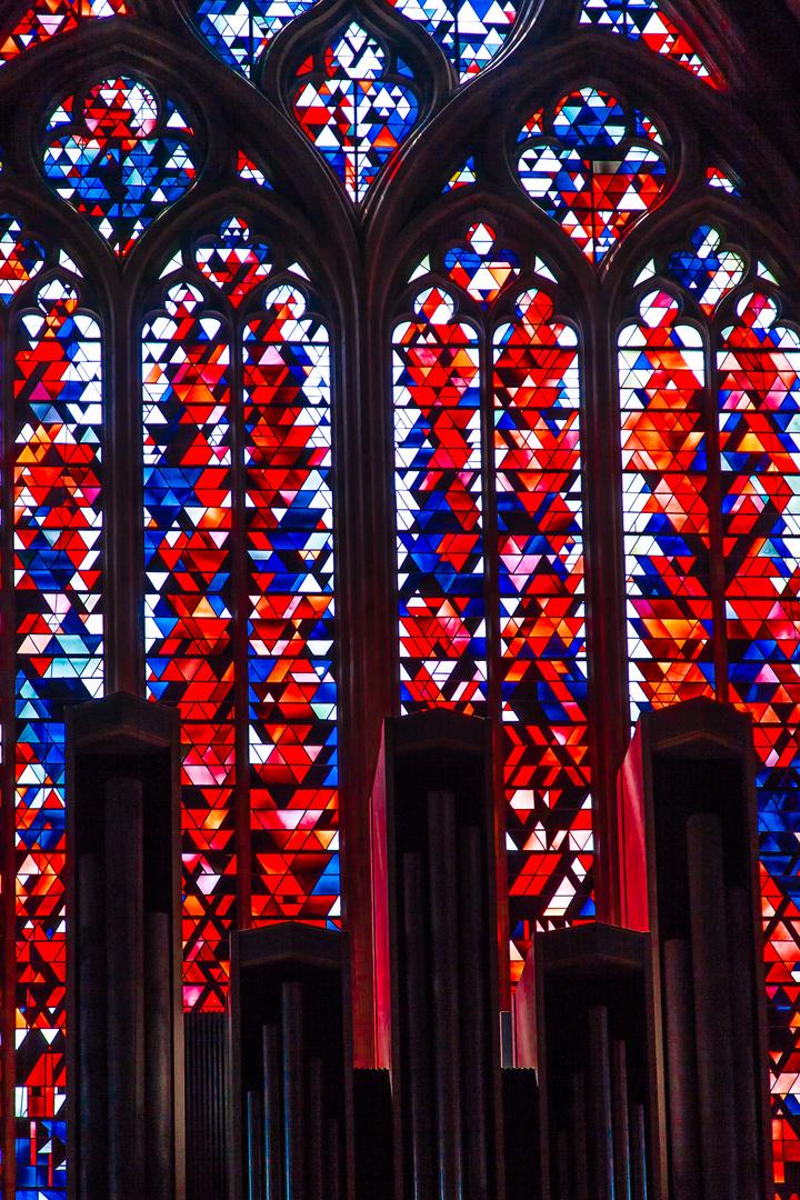 Xanten dom st viktor westfenster hinter orgel foto for Fenster xanten
