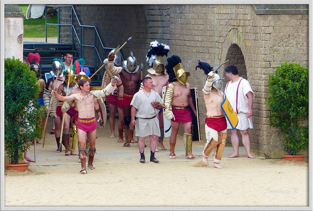 Xanten - Römerfest 2014 - Einmarsch der Gladiatoren in die Arena