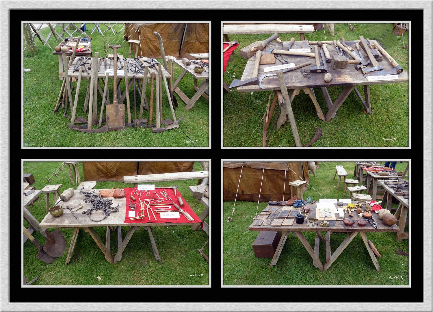 Xanten - Römerfest 2014 - Lagerleben - komplette Werkzeugausstattung