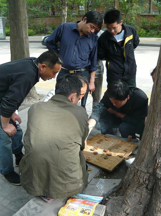 Xiangqispieler und Kiebitze (2)