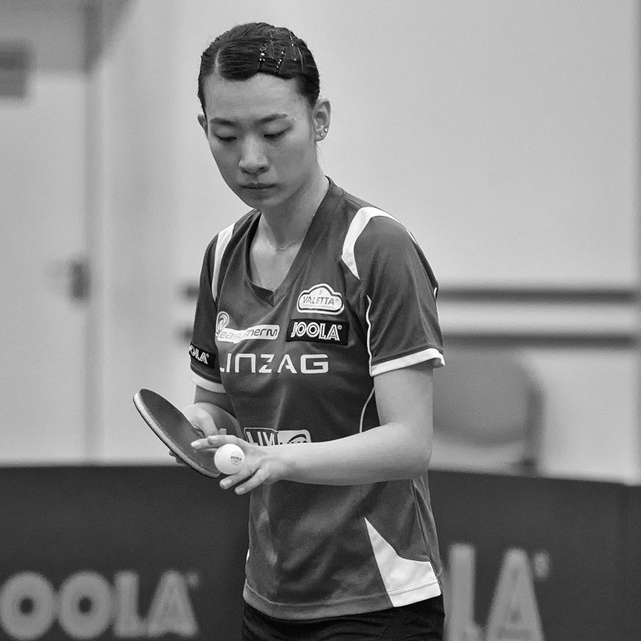 Xiaodon Li - Volle Konzentration vor dem Aufschlag