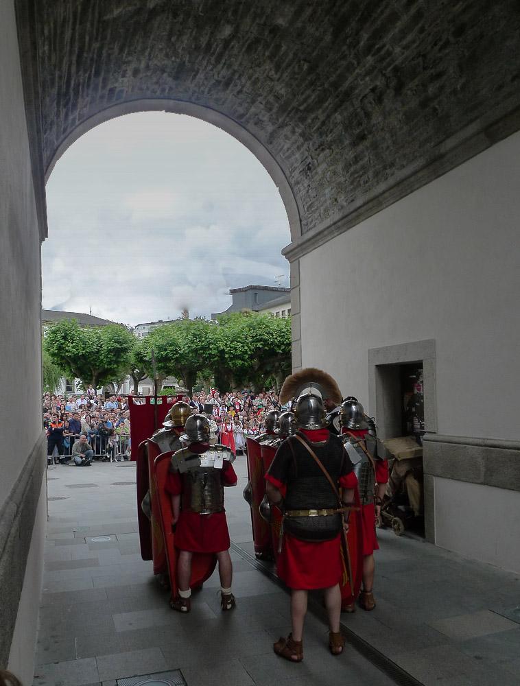 ..y los romanos invadieron hoy Lugo