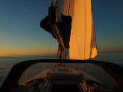 Yacht im Sonnenuntergang II