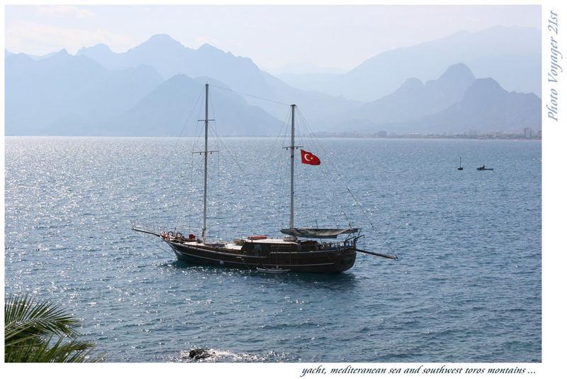 Yacht, Mediteranean Sea and Toros Mountains...