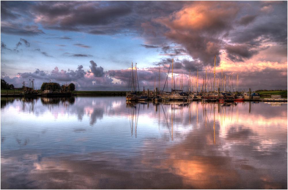 Yachthafen am Abend