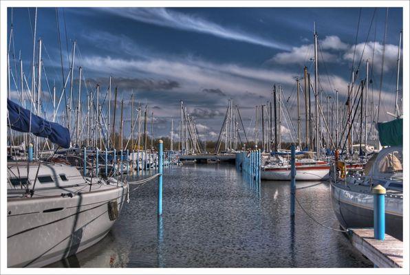 Yachthafen Makkum.