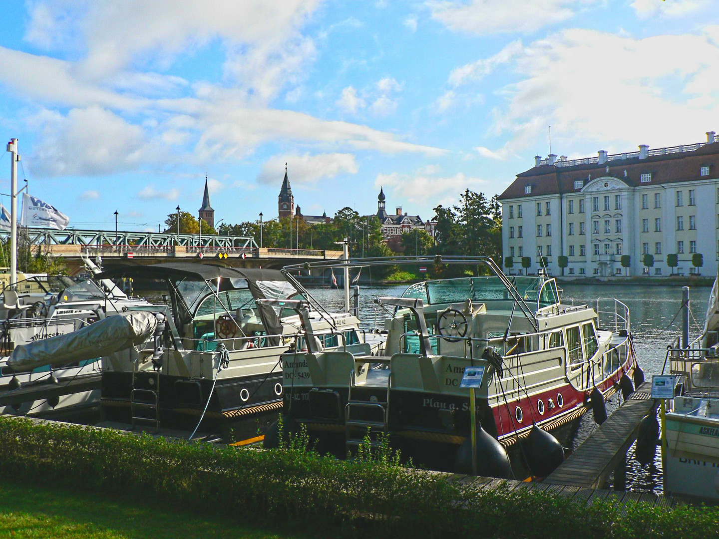 Yachts, River Spree and the Koepenick Castle