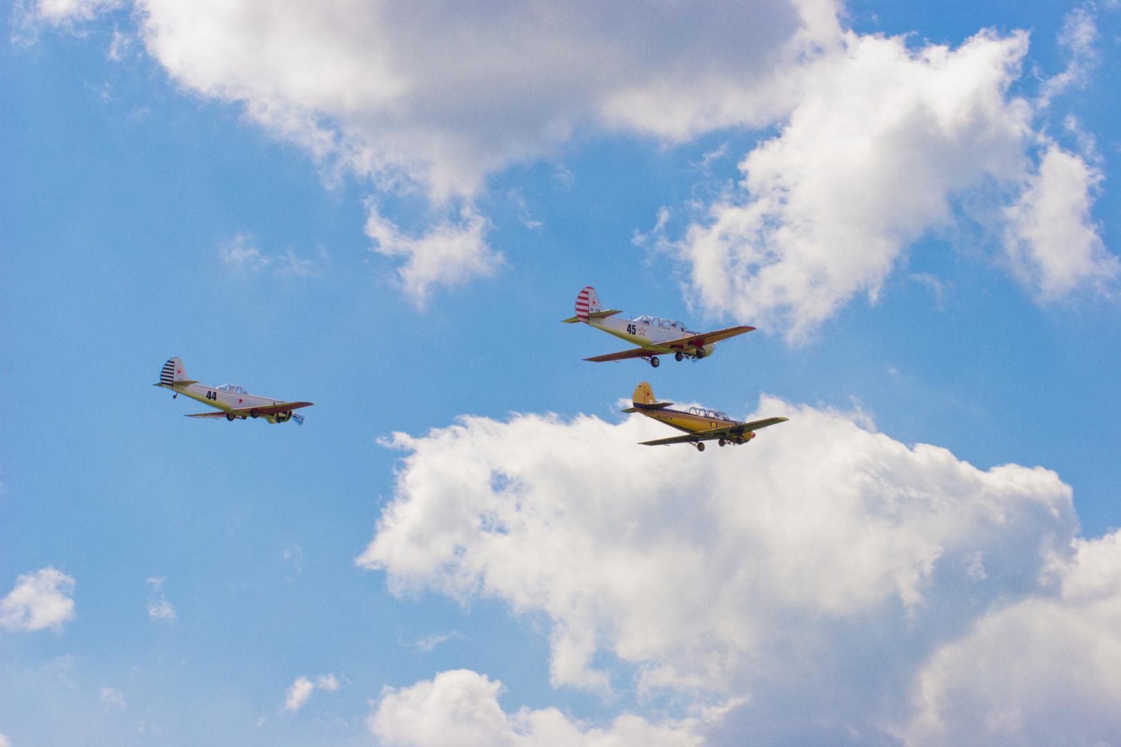 Yakovlev Yak-52 in Formation