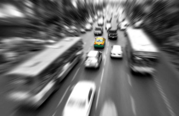 Yellow cab, Bangkok, Thailande