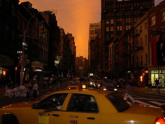 yellow cab & yellow sky