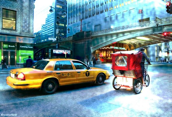Yellow Cabs in New York City