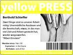 yellow press - Phantasie ist wichtiger als Wissen, denn Wissen ist begrenzt