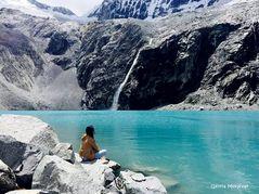 Yo, en la Laguna 69 Huaraz, Ancash, Perú.