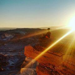 Yo, en La piedra del coyote en San Pedro de Atacama.