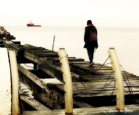 Yo, en Punta Arenas.