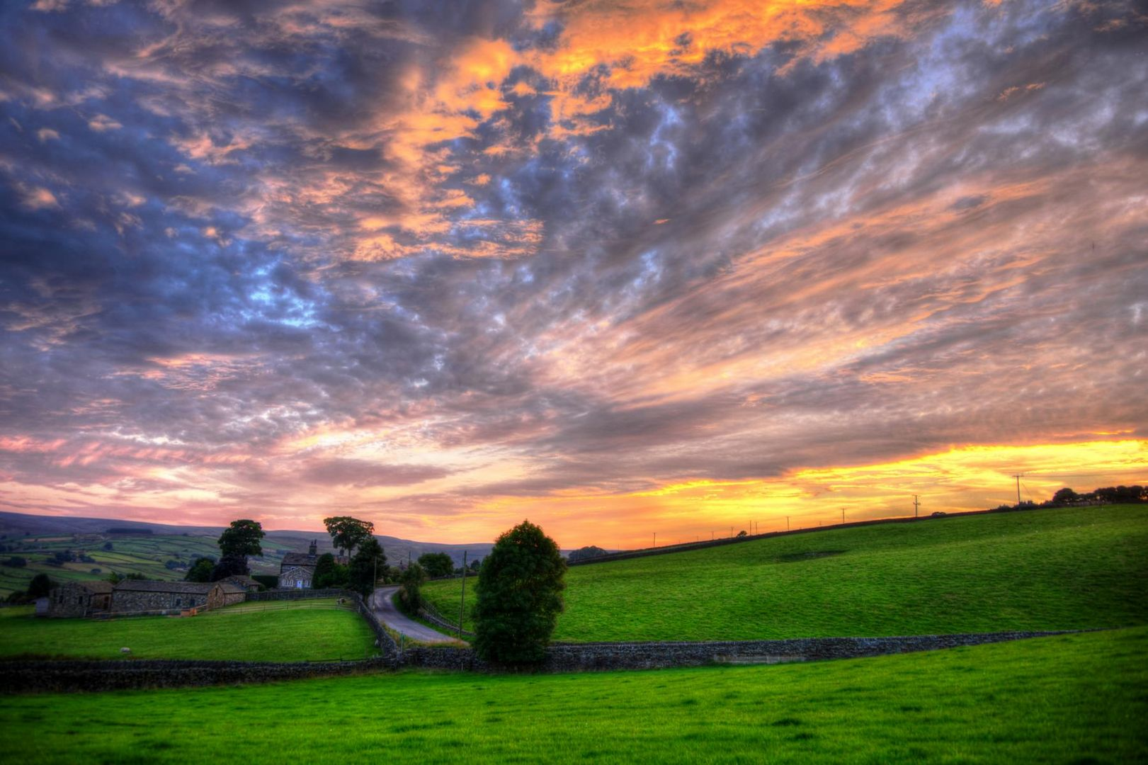 Yorkshire Sunset - nr Keighley, West Yorkshire