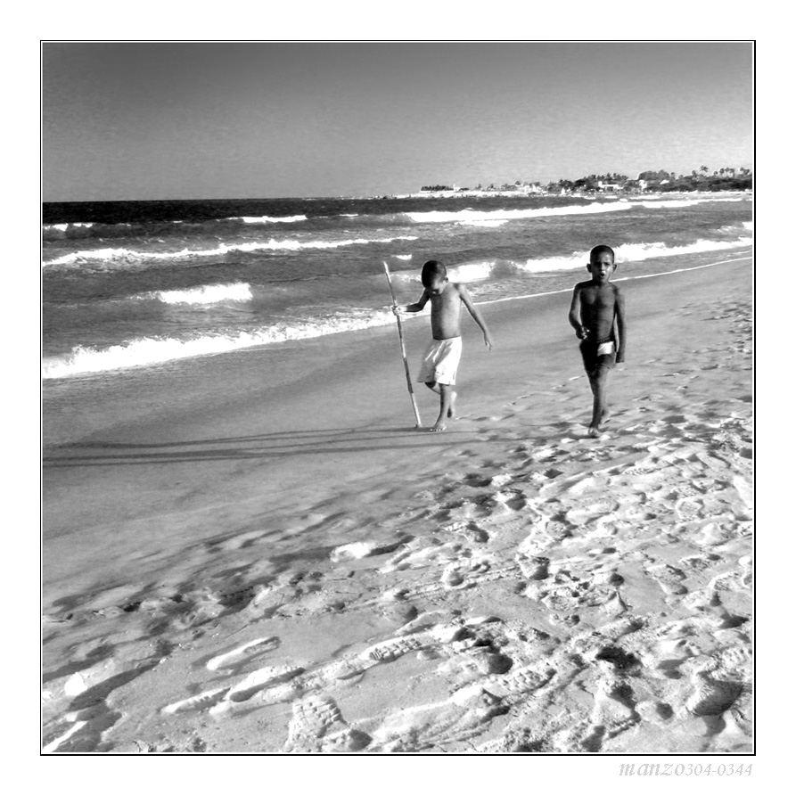 young boys on the beach