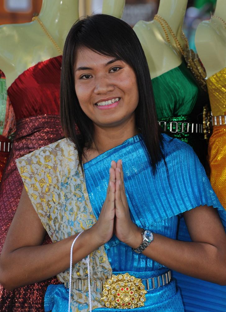 Young Lady at Wat Arun 1