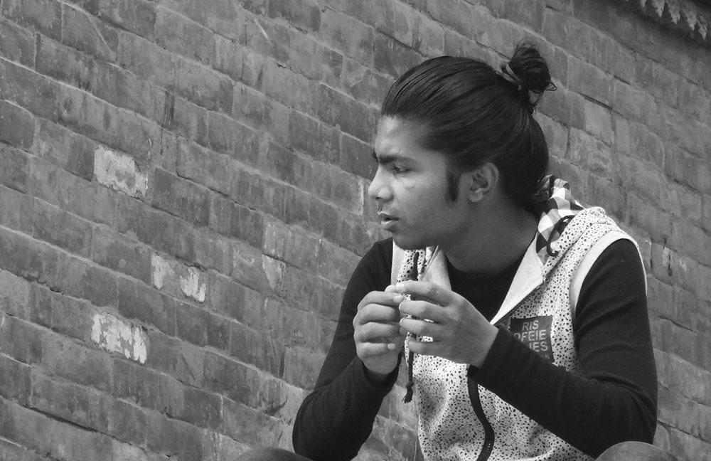 young man at kathmandu
