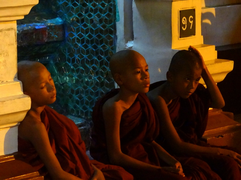 Young monks taking some rest...