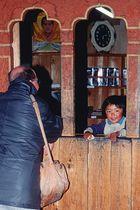 Young vendor girl in Jakar Bumthang