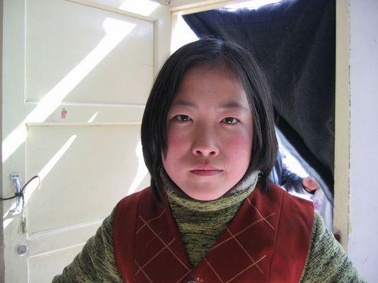 Young waitress in Lan Chou