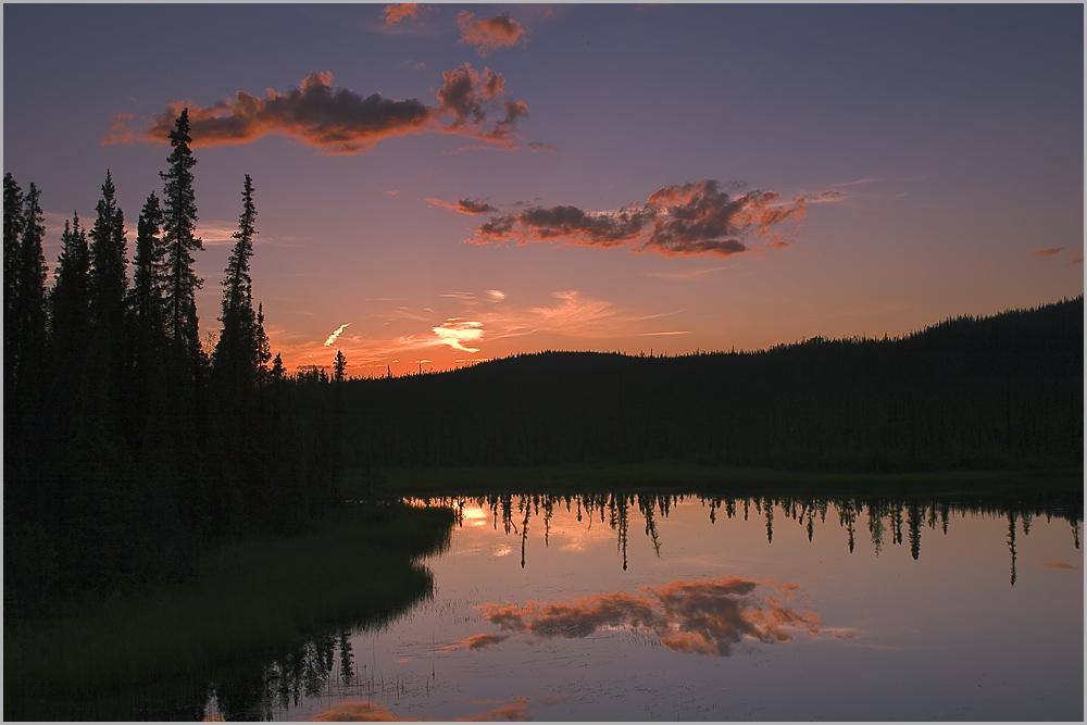 Yukon at midnight