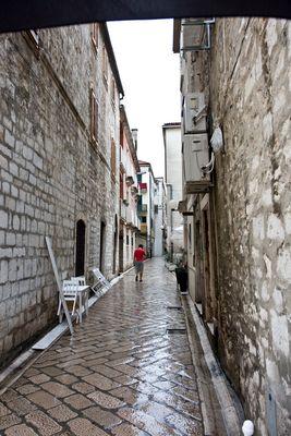 Zadar im Sommerregen