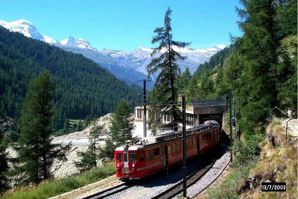 Zahnradbahn Zermatt - Täsch