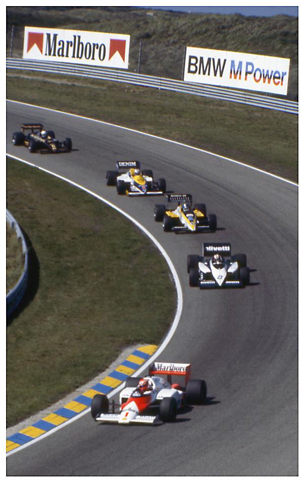 Zandvoort 1985: Lauda, Surer, Warwick, Mansell und de Angelis