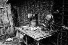 Zanzibár in BW_11.: The kitchen