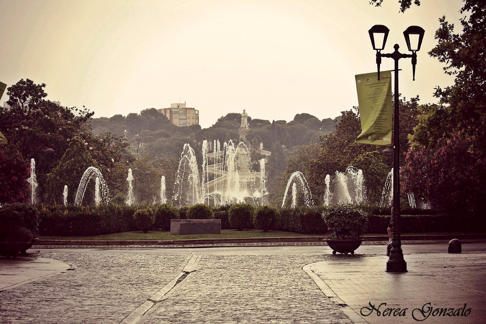 Zaragoza y su lluvia..