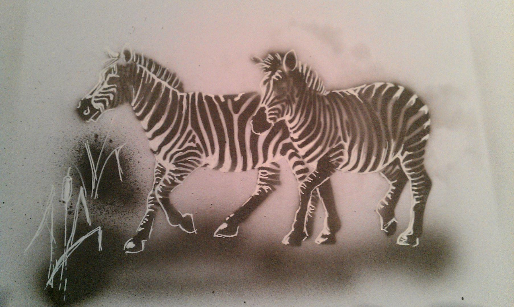 zebra airbrush