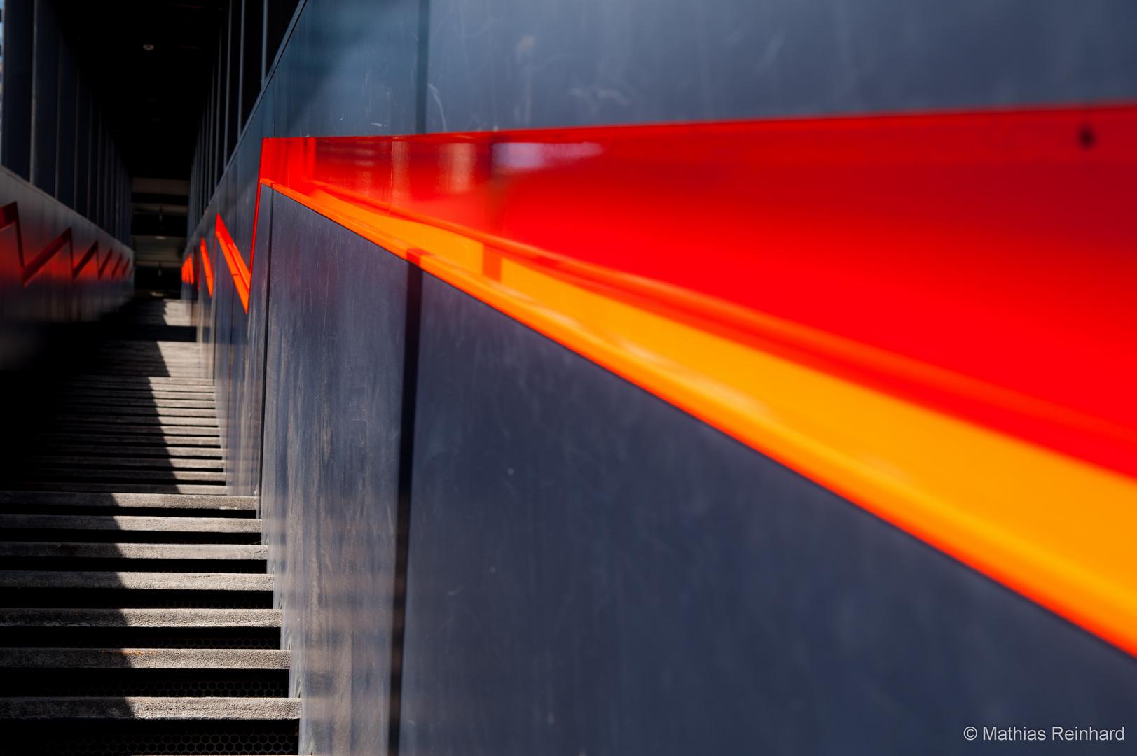 Zeche Zollverein - Treppe zum Besucherzentrum