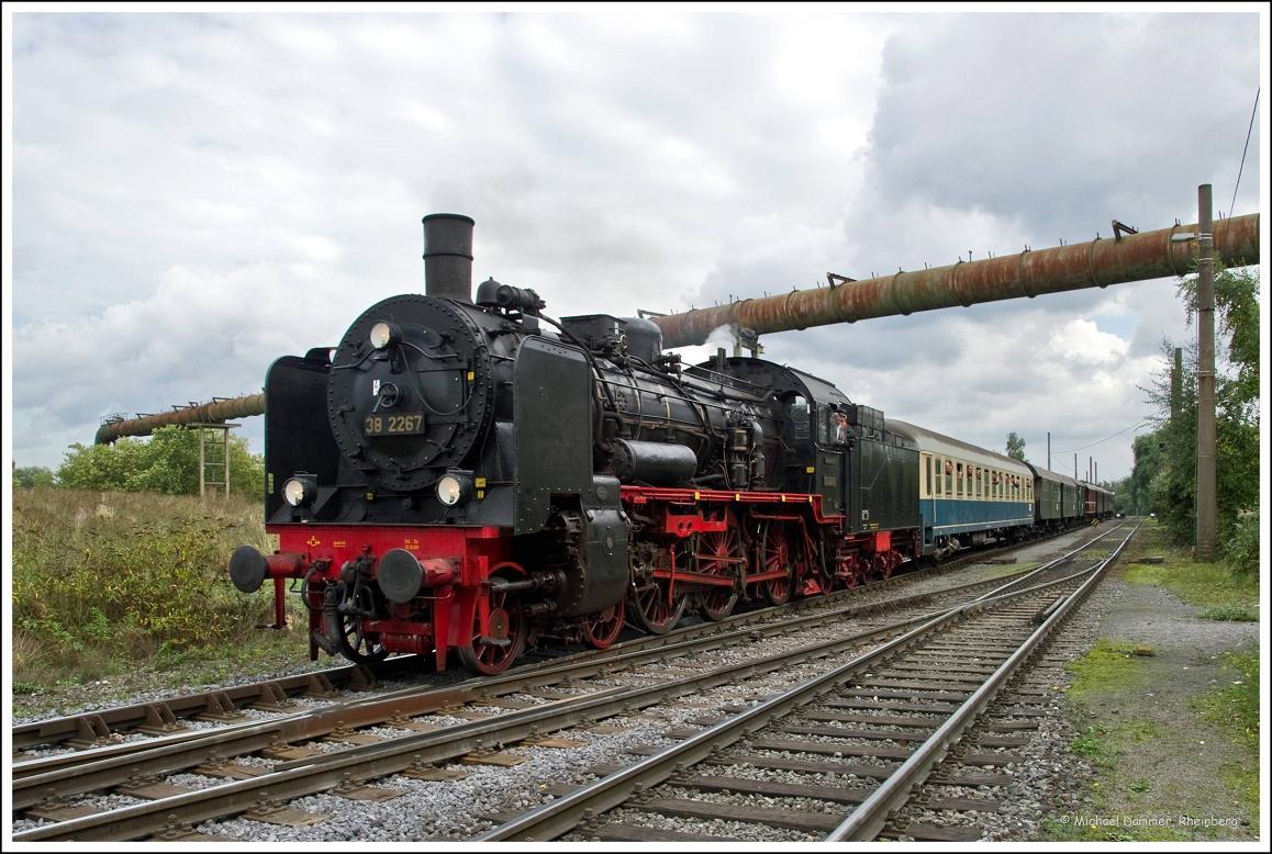 Zechenbahnfahrt mit der 38 2267