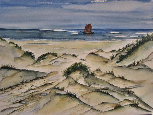 Zeesboot - Dünen am Meer
