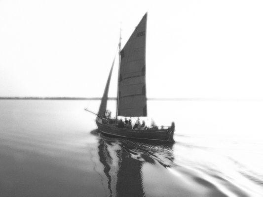 Zeesenboot vor Wiek/Darß