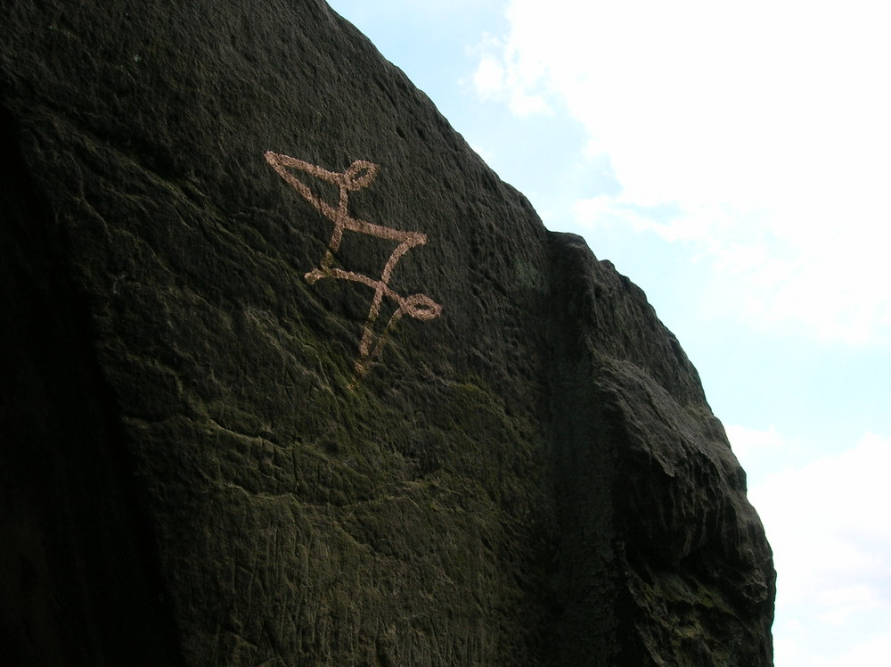 Zeichen auf den Externsteinen